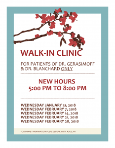 Walk-In Clinic for Patients of Dr.'s Gerasimoff & Blanchard @ Bancroft Family Health Team | Bancroft | Ontario | Canada